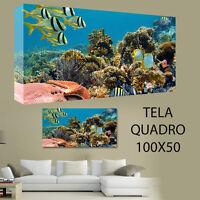 QUADRO MODERNO TELA 200X125CM ARREDO MARE PARADISO OCEANO CARAIBI STELLA MARINA