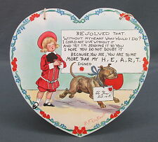 Tuck Outcault Paper Hanging Valentine Heart Shaped Buster Brown Tige Resolved
