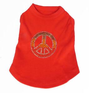 Rasta Peace  Red  Dog Tank Shirt Top  Tee T-Shirt Pet shirt Peace Sign