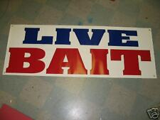 LIVE BAIT Banner Sign Fishing Worms Lure Minnows Ice NEW LARGER SIZE BEST PRICE