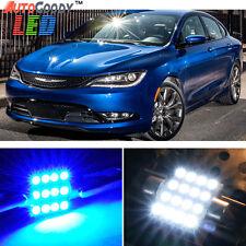 8 x Premium Blue LED Lights Interior Package for 2011-2017 Chrysler 200 + Tool