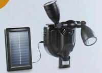 Super Bright Twin LED Solar Powered PIR Motion Sensor Outdoor Security Light