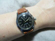 1940's WW2 Jardur Bezelmeter Army Military Pilot Woman Watch RARE! work
