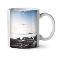Freedom Sea Life Nature NEW White Tea Coffee Mug 11 oz   Wellcoda