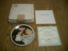 1989 Norman Rockwell Mothers Day Plate #14 Sunday Dinner Knowles Collector Plate