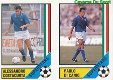 COSTACURTA - DI CANIO FIGURINE STICKER WORLD CUP VALLARDI MONDIALE ITALIA 90