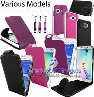 PREMIUM  PU LEATHER PROTECTION FLIP CASE COVER POUCH FOR SAMSUNG MOBILE PHONES