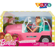 Barbie Jeep with 2 Dolls Girls Christmas Toy Playset Doll Giftset Pink Toys New