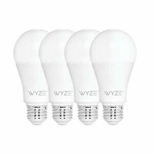Bulb Lumen A19 LED Smart Home Light Bulb Adjustable White Temperature 4 Pack