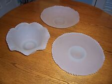 Frosted Serving Bowls and Platter