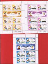 Tuvalu #157-162 MNH OG  Sheets  of 7  Charles & Diana   Free S/H