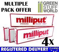 Milliput Yellow Grey (Standard) COMBOx4 packs Milliput Epoxy Putty Warhammer 40k
