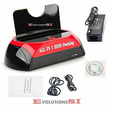 BASE DOCK PARA CONEXION HDD DISCO DURO SATA 2.5 3.5 USB PUERTO ESATA ENVIO 48H