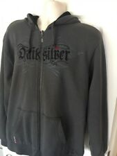 Quiksilver Mens L Gray Lined Heavy Jacket Hoodie Retail$75 NEW w TAGS