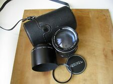 Asahi Pentax 135mm f/3.5 Super Takumar Lens Case Hood Filter **Very Nice Glass**
