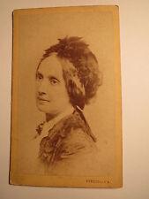 Budapest - Karoline Glatt ? als Frau - Portrait / CDV Ungarn