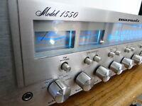 MARANTZ 1550 STEREO RECEIVER -- SERVICED -- NEW LED's *