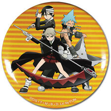 **License** Soul Eater Maka Black Star & Death the kid Group 2.25'' Button #6715