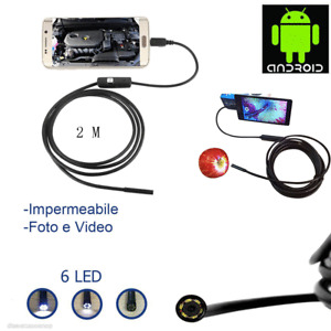 5.5 mm Android Snake Endoscope Micro USB Inspection Camera 6 LED Waterproof