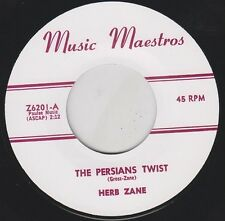 "HERB ZANE Persians Twist 7"" Re. Tuff Early 1960s Pounding R&B Mambo Twister HEAR"