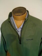 G/FORE Camouflage Embossed Quarter Zip Pullover NWT Medium $155 Olive Green