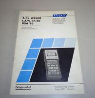 Schulungsunterlage Fiat Diagnostic Scanner Tool S.P.I Weber I. a. A.6F. By