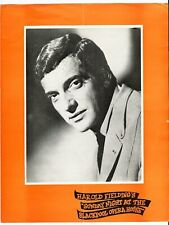 OPERA HOUSE BLACKPOOL CONCERT PROGRAMME 1971 FRANKIE VAUGHAN MIKE YARWOOD