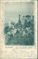 Ansichtskarte Baden-Baden Das alte Schloss 1901 (Nr.970)