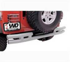Smittybilt 87-06 Jeep Wrangler YJ TJ LJ Tubular Bumper Rear W/Hitch Blk Textured