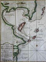Mozambique Eastern Africa Coast Survey city plan 1749 Bellin map