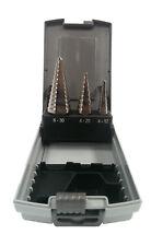 3 tlg. Stufenbohrer SET HSS-E in Rose Kassette 4-12 / 4-20 / 6-30 mm Cobalt