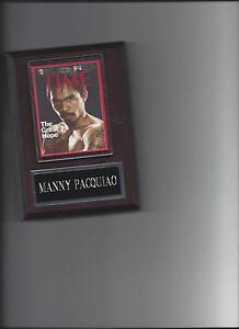 MANNY PACQUIAO PLAQUE BOXING CHAMPION MAGAZINE PHOTO