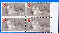 BLOC DE 4 TIMBRES   MONACO  N° 825 EXPO OSAKA JAPON   NEUF **  MNH BD63
