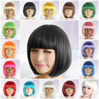 Hot Sale Unisex Straight Party Bob Hair Wigs Synthetic fiber Halloween Costume