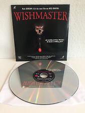 Wishmaster   Laserdisc PAL Deusch   LD: Fast wie Neu / N. Mint   Cover: Sehr Gut