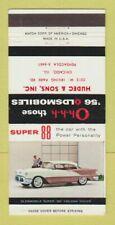 Matchbook Cover - 1956 Oldsmobile Hudec & Sons Chicago ILWEAR 30 Strike