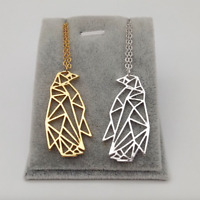 NEW Beautiful Origami Style Penguin Necklace, 3 Colours, UK Seller