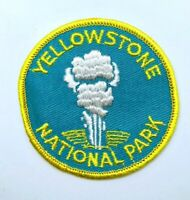 Vtg Yellowstone National Park Wyoming Patch, Old Faithful, Embroidered Souvenir