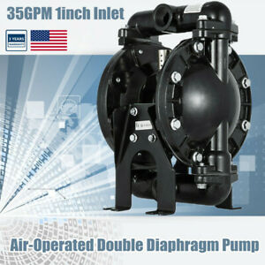 """Air-Operated Double Diaphragm Pump 1"""" Inlet Outlet Petroleum Fluids 35GPM 120PSI"""