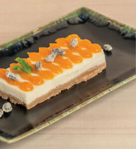 Box of 6 - dessert side sushi dinner plates MING MUGA 20x13X2CM