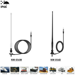Marine Radio Antenna Waterproof Rubber FM AM Aerial For ATV UTV Truck Yacht Car