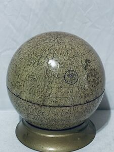 """VINTAGE RARE LUNAR MCM CRAMS 10 1/2"""" MOON GLOBE WITH STAND (1A)"""