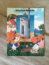 Vintage Sony Tape Recorder Catalog
