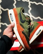 Nike Air Max 1 Olive Canvas Dark Russet Uk 10
