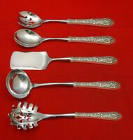 Bridal Bouquet by Alvin Sterling Silver Hostess Set 5pc HHWS  Custom Made