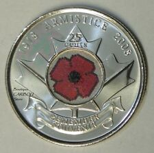 2008 Canada Color 25 Cents Poppy BU