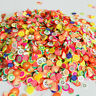 Mini Colorful Polymer Clay Fruits Slices DIY Flatback Slime Craft Making Jewelry