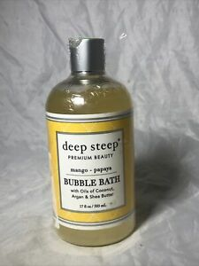 Deep Steep Bubble Bath - Mango- Papaya - 17 Ounce *