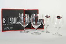 Riedel Vinum Crystal Soft Drink / Water Glass Set of 4 Made in Germany 6416/02