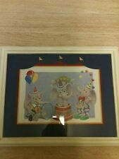 "Home Interior Clown Elephant (DUMBO LOOK) 16""x20"" ( RARE)  Picture"
